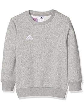 Adidas Felpa Coref Swt to Y, da bambino, Bambini, Sweatshirt Coref swt to y, Grigio medio, bianco, 140
