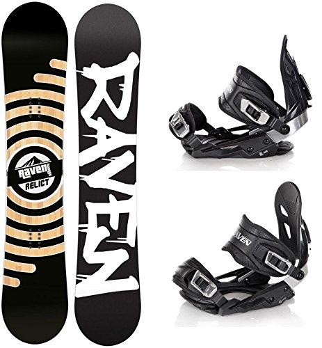 Snowboard Set: Snowboard Raven Relict + Bindung Raven s400 Black M/L