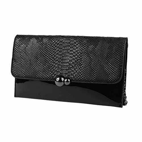 OBC Only-Beautiful-Couture, Poschette giorno donna argento argento ca.: 30x16x3 cm (BxHxT) nero