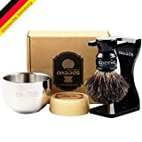 Best Badger Brush With Stands - Black Badger Brush Mens Shaving Set with Shaving Review