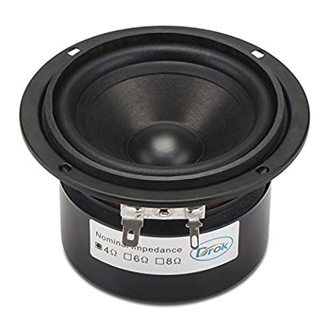 DROK® 3-inch 15W HIFI Full Range Speakers with 90dB High Sensitivity, Circular 4Ω 52mm Hight Loudspeakers with High Pitch, Anti-magnetic Home Woofer Stereo Speakers Suitable for Listening to Classical & String
