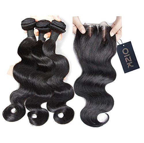 Oisk 7A Branche brésilienne des cheveux vierges avec fermoir 3 ensembles Top Ondulation du corps brésilien non transformé Traitement des cheveux Rémi humain à bas prix Extension Natrual Color (10\\