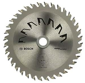 Bosch 2609256960 Précision Lame de scie circulaire 36 dents carbure Coupe nette Diamètre 127 mm alésage/alésage avec bague de réduction 20/12,75 Largeur de coupe 2,5 mm