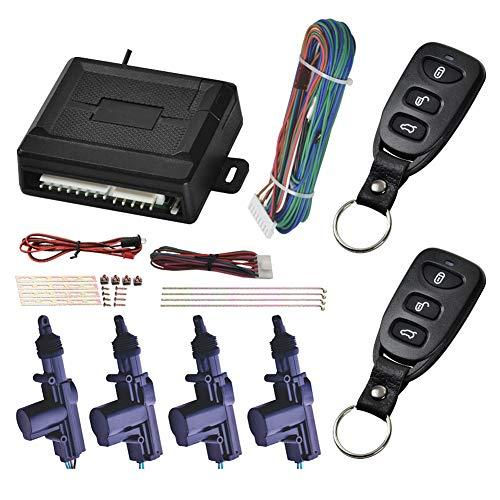 015LS Universal-Auto-Türschloss, schlüssellos, Einstiegssystem, Auto-Alarmanlage, Fernbedienung, Zentralverriegelungs-Kit mit Klappschlüssel Fernbedienung für Kofferraum