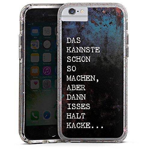 Apple iPhone 8 Bumper Hülle Bumper Case Glitzer Hülle Merde Kacke Shit Bumper Case Glitzer rose gold