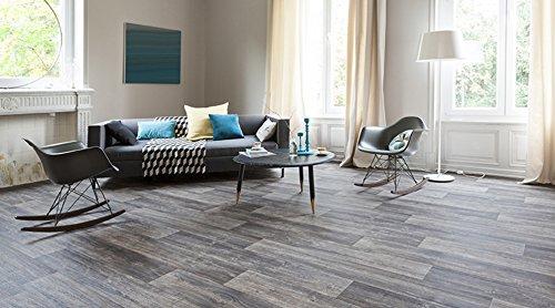 Gerflor TEXLINE® PVC Vinyl Bodenbelag - Hudson Dark 1881 Linoleum Rolle Fußbodenbelag Vinylbahnen - Breite 4m