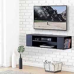 FITUEYES Meuble Télé avec Support pour Téléviseur de 47 à 55 Pouce Ecran LED avec Rangement pour DVD CD AV Equipement DS210002WB