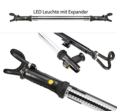 Motorhauben Leuchte Arbeitsleuchte Motorraumleuchte Werkstattleuchte Stablampe 120 LED