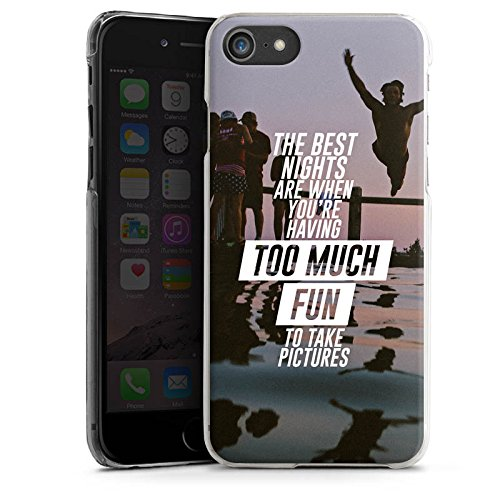 Apple iPhone X Silikon Hülle Case Schutzhülle Sprüche Spaß Feiern Hard Case transparent