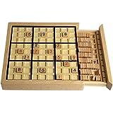 Andux Zone Madera Sudoku Juegos de Mesa con cajón SD-02 (Negro)