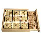 immagine prodotto Andux Zone Sudoku Gioco da tavolo puzzle in legno con cassetto SD-02 (Nero)