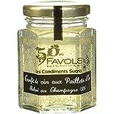 FAVOLS Confit de Vin aux Paillettes d'Or Élaboré au Champagne 110 g - Lot de 2