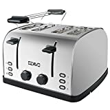 OZAVO Grille-pain 4 fentes, Toaster Multifonction Extra...