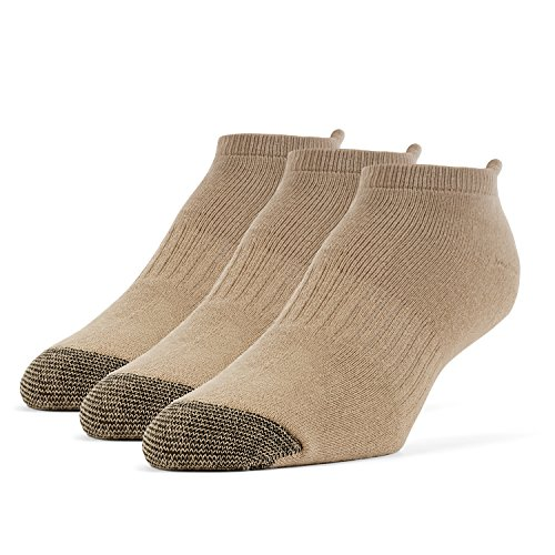 Galiva Herren Socken, Sportsocken, gepolsterte extra weiche, Baumwoll Laufsocken - 3 Paar, Klein, Beige -