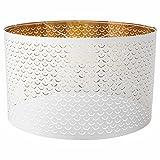 Nymo Lampenschirm, weiß, brass-colour