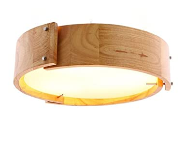 Deckenleuchte Holz Led Rund Eiche Deckenlampe Decken Lampe Protokolle Und Hngeleuchte Hnglampe Esszimmer Japanisch Tatami Einfarbig Leuchten Fenster