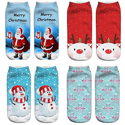 Weihnachtssocken-Set, 4er-Pack