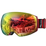OutdoorMaster Gafas de esquí Pro - Sin Marco, Lentes Intercambiables 100% UV402 Protección Gafas...