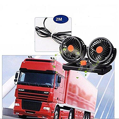 Mini ventilador aire coche portátil 24 V coche camión