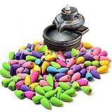 Räucherkegel gemischte Düfte / Farben (100 Stück) Natürlicher Duft Räucherkegel, Duft: Rose, Jasmin, Lavendel, Sakura