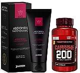 J.ARMOR Set 2 prodotti  Crema Termogenica + Integratore Caffeina  Brucia grassi Dimagrante Snellente Anticellulite Drenante   Azione combinata   Per uomo e donna