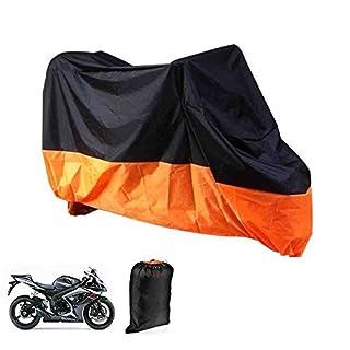 ArturoLudwig Motorrad Garage Abdeckplane Plane Faltgarage Wasserdicht Orange und Schwarz mit Tasche, XL 245x105x125cm by