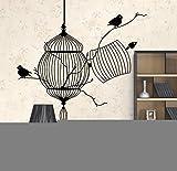 Pbbzl 3D Vögel Käfig & Baumast Moderne Pvc-Wandaufkleber Abnehmbare Wasserdichte Hause Wand Wohnzimmer Wohnkultur