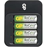 GP Batteries ReCyko+ 1604155000 Indoor battery charger Noir chargeur de batterie - Chargeurs de batterie (100-240, 50/60, 4 pièce(s), Hybrides nickel-métal (NiMH), Noir, Indoor battery charger)