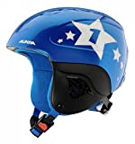 Alpina Kinder Carat Skihelm, Blue-Star, 51-55 cm