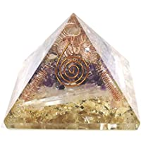 Golden Quartz + Selenite + Amethyst Orgonite Pyramid Size - 3-3.5 inch Chakra & Reiki Healing Aura Cleansing Crystal. preisvergleich bei billige-tabletten.eu