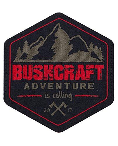 Preisvergleich Produktbild Bushcraft 2017 Stoff Patch Aufnäher Abzeichen - Oliv Rot
