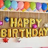 """Takalao Oro 40"""" letras A-Z papel globos para boda cumpleaños y nombre-no-flote, necesita ser colgado o pegado a la pared , 40 inch matt gold letters j"""