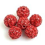Sweet & Happy Girl'S Shop Viele 10mm pflastern Glanz roten Perlen f¨¹r Schmuck machen (10 Perlen pro Sweet & Happy Girl'S Shop Viele)