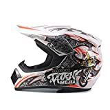 QianXuJi Casque Motocross Dirt Bike Downhill MTB Racing Casques De Protection 4 M