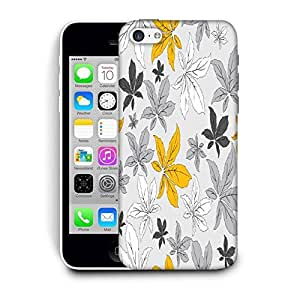 Snoogg Yellow Flower Grey Printed Protective Phone Back Case Cover For Apple Iphone 6 / 6S