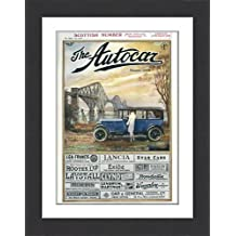 Framed 16x12 Print of Cover design, The Autocar Magazine (14117173)