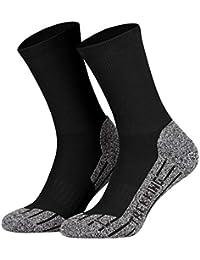 Tobeni deux paires de haute technologie Coolmax trekking chaussettes fonctionnelles pour les hommes et les femmes