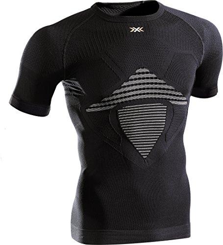 X-Bionic Erwachsene Funktionsbekleidung Man Energizer MK2 UW Shirt Shorts SL, Black/White, S/M, I100352 (Black Erwachsene Mens T-shirt)