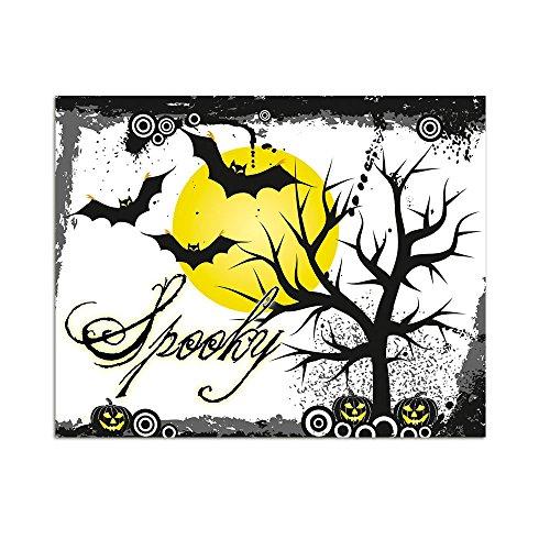 graz-design Wandsticker Sticker Aufkleber für Halloween Schirftzug Spooky Mond Fledermäuse (72x57cm) (Halloween-baum Spooky)