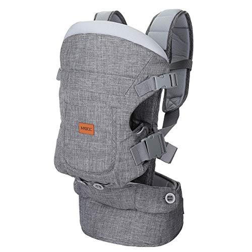 MATCC Babytragen Neugeborene Bauchtrage Baby Ergonomisch Rückentrage 4 IN 1 Kindertrage für Kleinkind 4 Tragepositionen für 0-36 Monat(5-15kg)