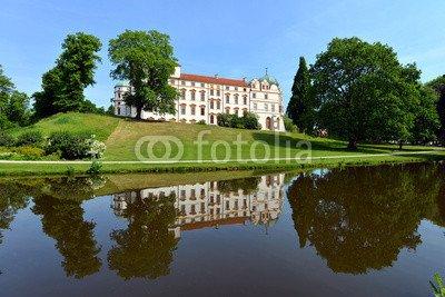 "Alu-Dibond-Bild 140 x 90 cm: ""Celler Schloss, Residenz, Schlosspark, Niedersachsen, Celle"", Bild auf Alu-Dibond"