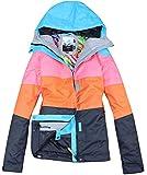 APTRO Women's High Windproof Snow Coat Technology Colorfull Printed Ski Jacket