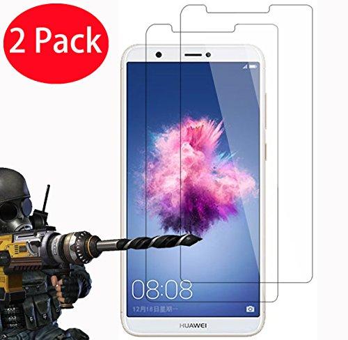 2 Pack - Huawei P Smart Verre Trempé, FoneExpert® Vitre Protection Film de protecteur d'écran Glass Film Tempered Glass Screen Protector Pour Huawei P Smart