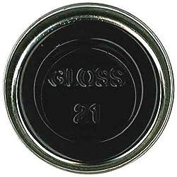 Humbrol 14ml No. 1 Tinlet Enamel Paint 21 (Black Gloss)