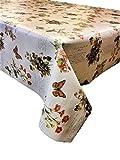 2Meter (200x 137cm) Vinyl-Tischdecke, Schmetterling Floral Naturforscher zu passen bis zu einer 6-Sitzer Größe Rechteck Tisch, abwischbar, Textil (233)