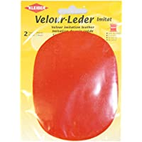 Kleiber - Rodilleras/coderas ovaladas de antelina, para coserlas, 12,5 x 10 cm, color granate