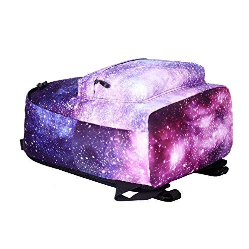 Artone Unisex Nylon Sternenklar Galaxis Universum Rucksack Passen 15 Laptop mit Umhängetasche Kordelzug Tasche und Mäppchen Blau Set von 4 Tunkelblau