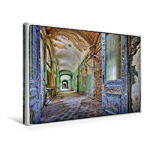 Premium Textil-Leinwand 45 cm x 30 cm quer, Ein Motiv aus dem Kalender Stille Orte Beelitz | Wandbild, Bild auf Keilrahmen, Fertigbild auf echter ... Lost Places-Frauenhaus (CALVENDO Orte)