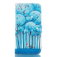 iPhone 5c case, JGNTJLS [with Free Tempered Glass Screen Protector] Premium PU Leather Wallet Embedded Flip Magnetic Detachable Close Lock with [Colorful-Pattern] and [Credit Card Holder Slots] Smart Standing Folio Book Style Type Stylish Ultra Slim Fit P
