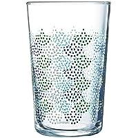 Luminarc ARTIFICIA Set 3 vasos forma alta 30cl, Verde, Aptos para lavavajillas, Cristal